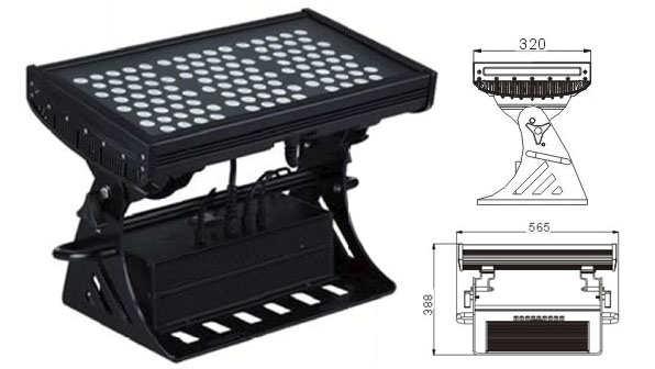 Guangdong led factory,led floodlight,250W Square IP65 DMX LED wall washer 1, LWW-10-108P, KARNAR INTERNATIONAL GROUP LTD