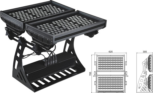 Guangdong led factory,led industrial light,250W Square IP65 DMX LED wall washer 2, LWW-10-206P, KARNAR INTERNATIONAL GROUP LTD