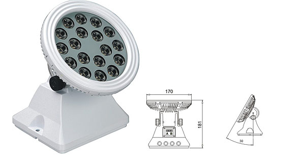 Guangdong led factory,LED wall washer light,25W 48W Square LED wall washer 1, LWW-6-18P, KARNAR INTERNATIONAL GROUP LTD