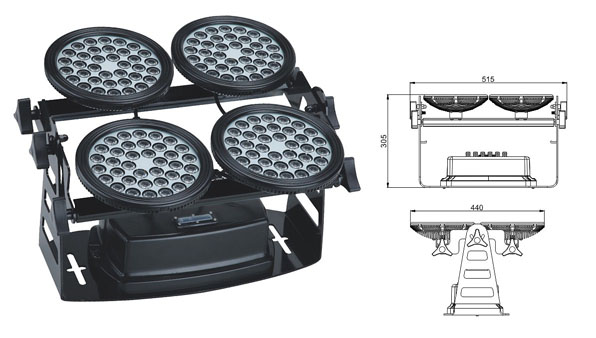 Guangdong led factory,led industrial light,155W Square waterproof LED flood lisht 1, LWW-8-144P, KARNAR INTERNATIONAL GROUP LTD