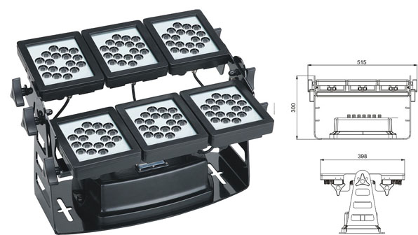 Guangdong led factory,led floodlight,220W Square waterproof LED flood lisht 1, LWW-9-108P, KARNAR INTERNATIONAL GROUP LTD