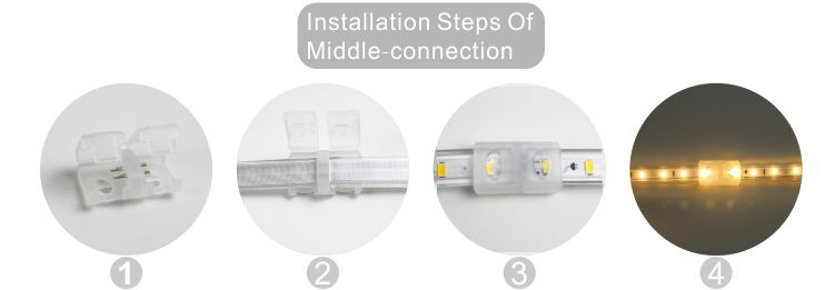 Guangdong led factory,led ribbon,240V AC No Wire SMD 5730 LED ROPE LIGHT 10, install_6, KARNAR INTERNATIONAL GROUP LTD
