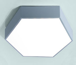 Guangdong buru fabrika,LED proiektua,18W Hexagon buru sabaia argi 7, blue, KARNAR INTERNATIONAL GROUP LTD