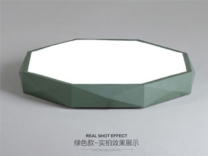 Guangdong buru fabrika,LED proiektua,18W Hexagon buru sabaia argi 4, green, KARNAR INTERNATIONAL GROUP LTD