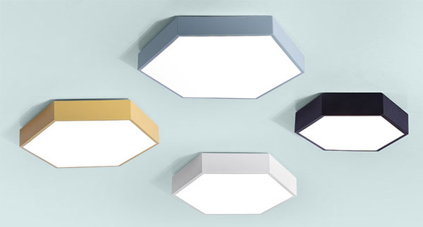 Guangdong buru fabrika,LED proiektua,18W Hexagon buru sabaia argi 1, style-5, KARNAR INTERNATIONAL GROUP LTD