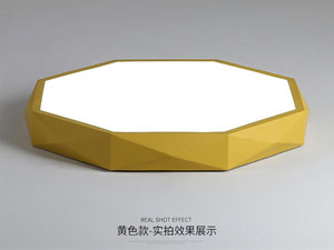 Guangdong led factory,Macarons color,12W Three-dimensional shape led ceiling light 6, yellow, KARNAR INTERNATIONAL GROUP LTD