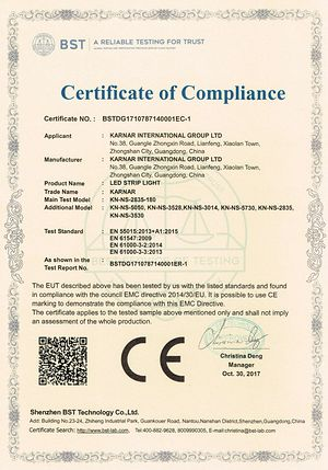 Certificat KARNAR INTERNATIONAL GROUP LTD
